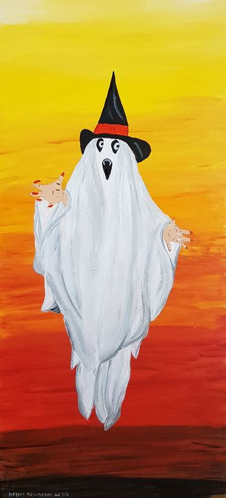 Happy Halloween ghost - Heijdi's fantastic painted World
