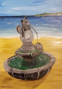The dragon fountain - Heijdi's fantastic painted World