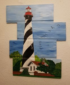 Lighthouse St Augustine / 6A - Heijdi's fantastic painted World