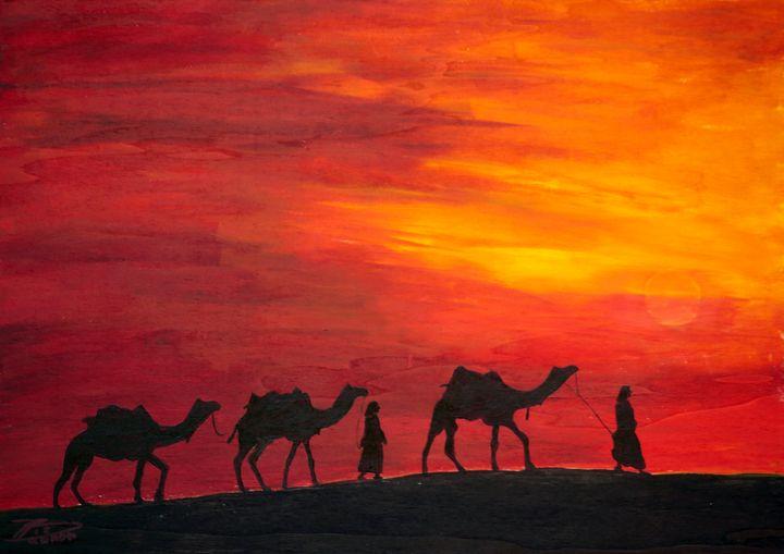 Desert Caravan - Heijdi's fantastic painted World