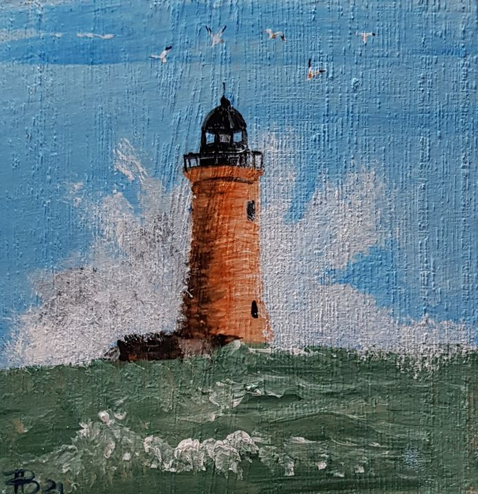 Whaleback Lighthouse - Heijdi's fantastic painted World