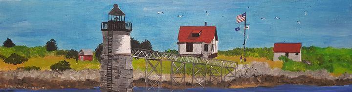 Ram Island Lighthouse Maine - Heijdi's fantastic painted World