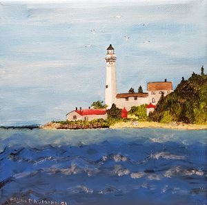 South Manitou Island Lighthouse - Heijdi's fantastic painted World