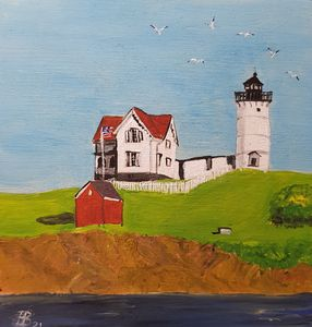Cape Neddick Light - Heijdi's fantastic painted World