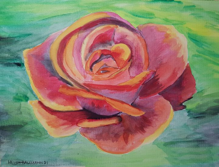 The Rose  01 - Heijdi's fantastic painted World
