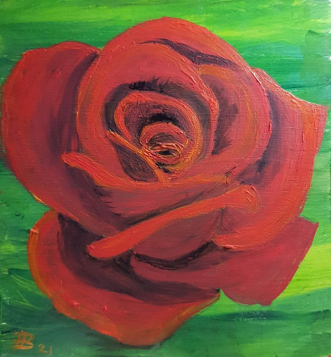 Small Rose - Heijdi's fantastic painted World