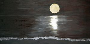 Silver Moon above the Ocean / 02