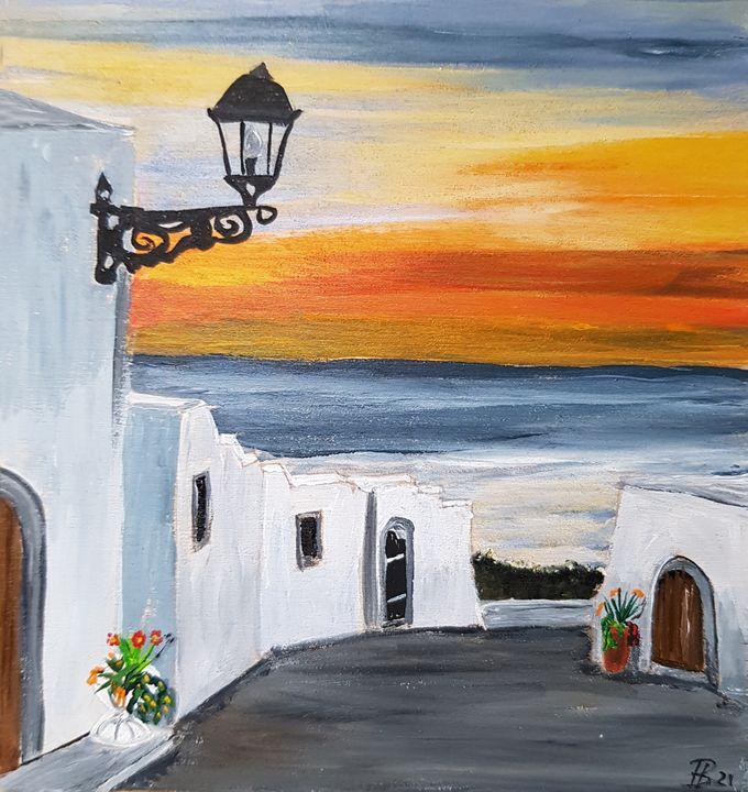 Sunset somewhere in  Mediterranean - Heijdi's fantastic painted World