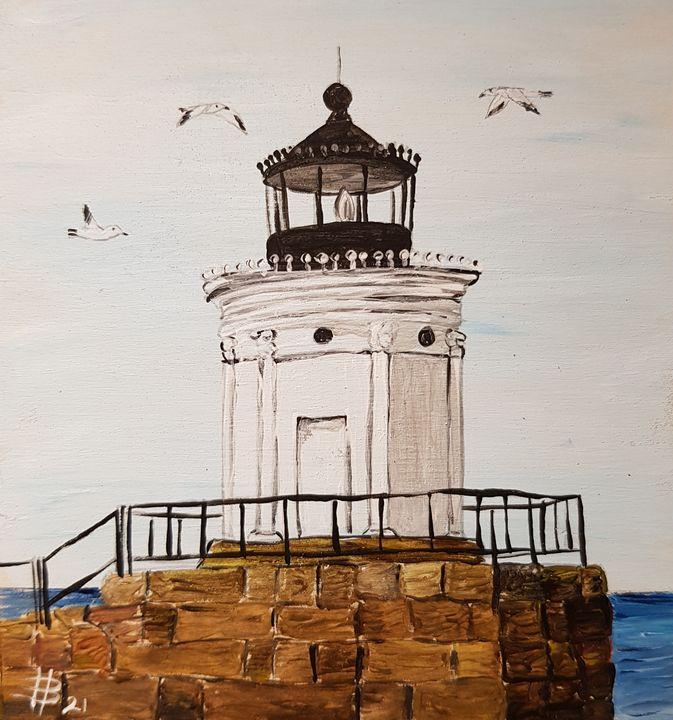 South Portland Breakwater Light - Heijdi's fantastic painted World