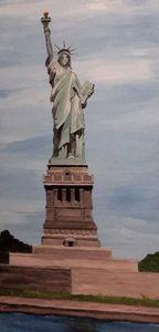 Lady Liberty  Big - Heijdi's fantastic painted World