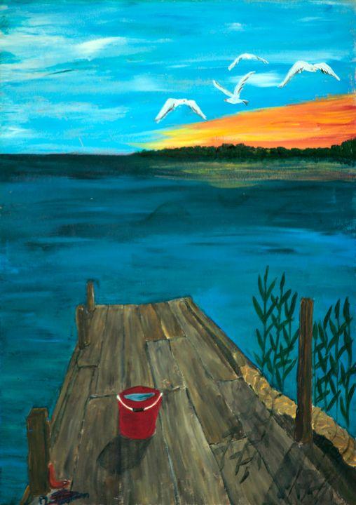 Fishing Platform / 01 - Heijdi's fantastic painted World