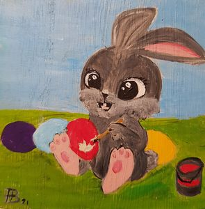 Easter Bunny 05 - Heijdi's fantastic painted World