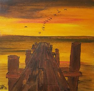 The jetty - Heijdi's fantastic painted World