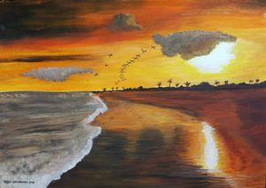 Sunrise at the sea 01