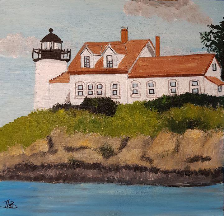 Pumpkin Island Lighthouse - Heijdi's fantastic painted World