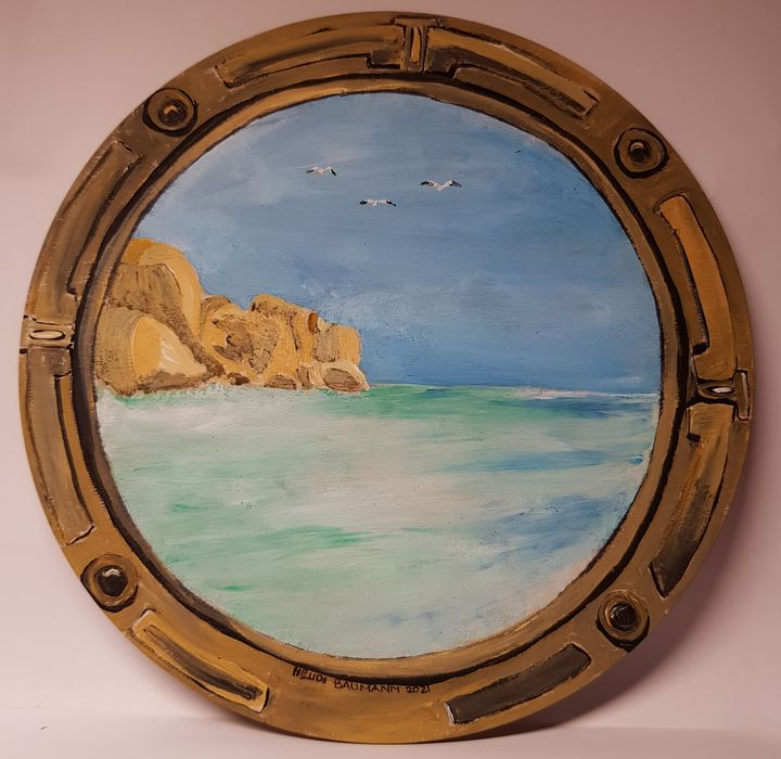 View from the porthole - Heijdi's fantastic painted World