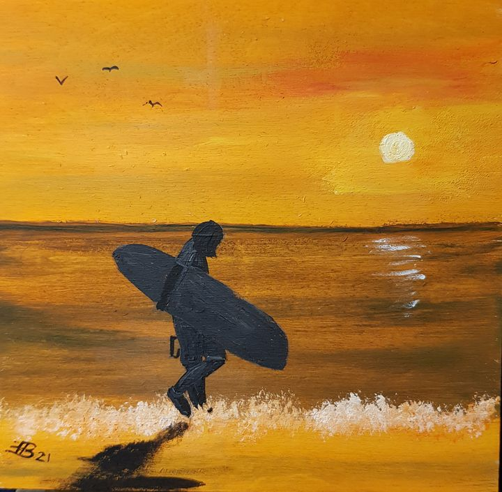 The surfer returns home - Heijdi's fantastic painted World