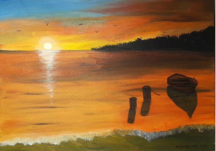Sunset on the Beach - Heijdi's fantastic painted World