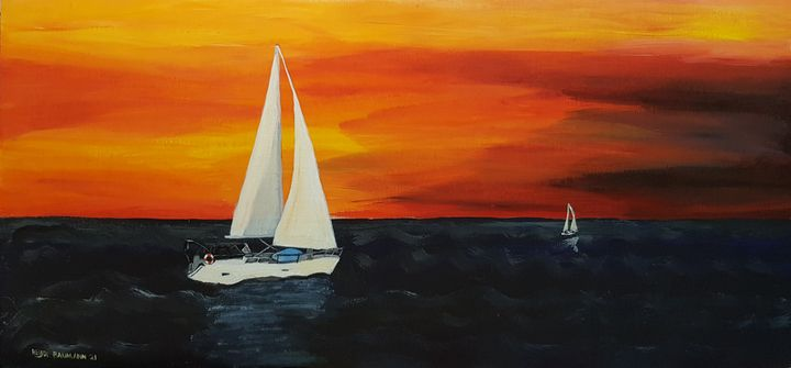 Evening sailing trip - Heijdi's fantastic painted World