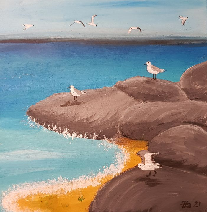the bay of seagulls - Heijdi's fantastic painted World
