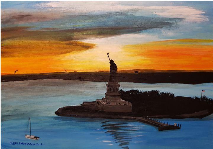 Lady Sunset - Heijdi's fantastic painted World