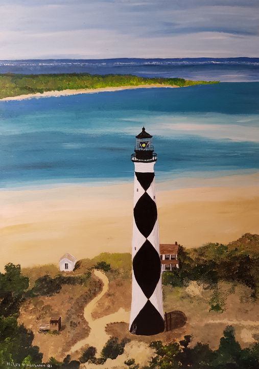 Cape Lookout Lighthouse - Heijdi's fantastic painted World