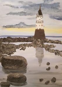 Plover Scar Lighthouse Lancester GB - Heijdi's fantastic painted World