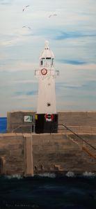 Mevagissey Lighthouse GB - Heijdi's fantastic painted World
