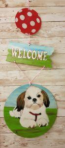 Welcome Dog 01/ Door Hanger - Heijdi's fantastic painted World