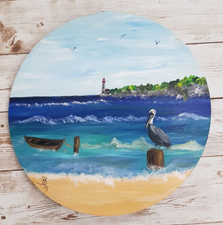 Window to the beach - Heijdi's fantastic painted World