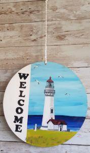 Welcome Lighthouse 03/ Door Hanger