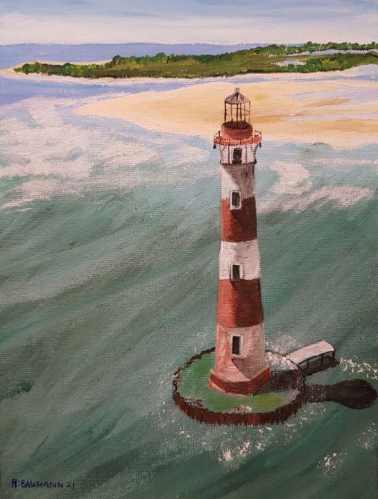 Morris Island Light Folly Beach SC - Heijdi's fantastic painted World