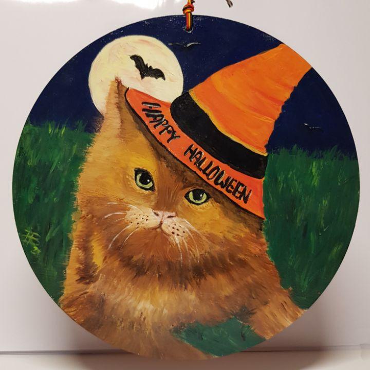 Happy Halloween Cat 01 - Heijdi's fantastic painted World