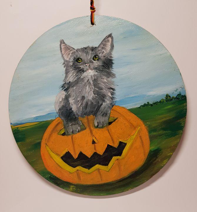 Happy Halloween Cat 02 - Heijdi's fantastic painted World