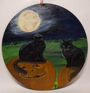 Halloween Cat`s - Heijdi's fantastic painted World