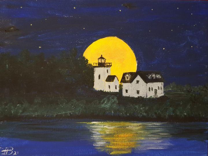 Indian Island Light Rockport - Heijdi's fantastic painted World