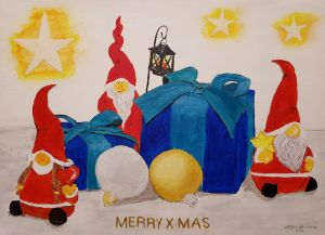MERRY CHRISTMAS with Gnom`s - Heijdi's fantastic painted World