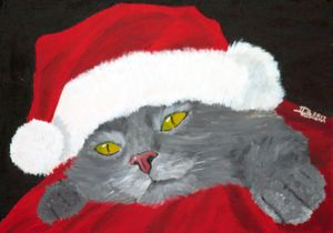 Miau-X-Mas - Heijdi's fantastic painted World