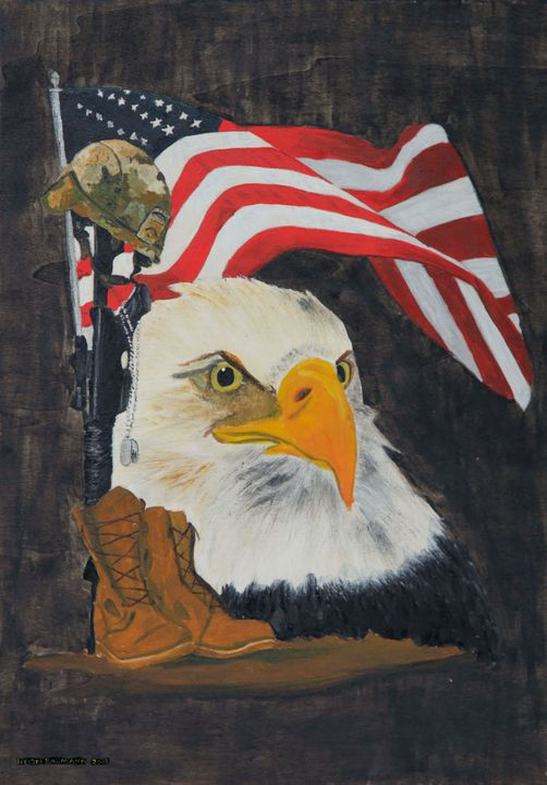 Patriotic - Heijdi's fantastic painted World