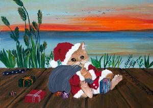 Merry X-Mas Cat / 01 - Heijdi's fantastic painted World