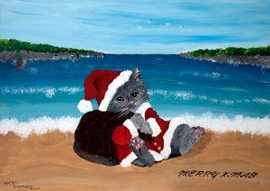 Merry X-Mas Cat / 02 - Heijdi's fantastic painted World