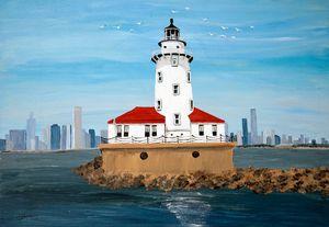 Chicago Harbor Lighthouse - Heijdi's fantastic painted World