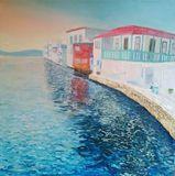 couple sea landscape impressionism