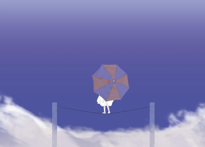 Girl with umbrella - Alvaro Núñez