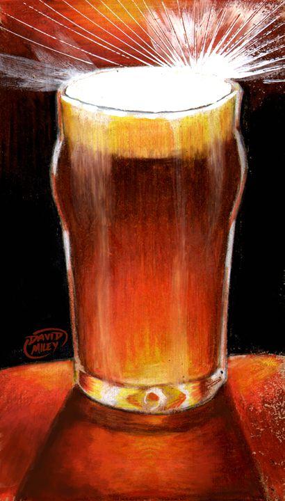 Pint glass - David Miley