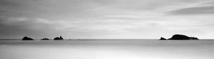 Seascape Panoramic black and white - Conor Lynch Photography