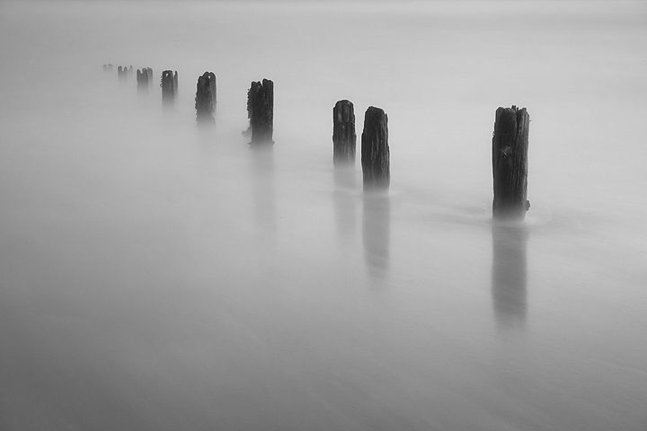 Sea Groynes at Youghal Beach - Conor Lynch Photography