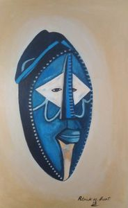 African Blue Mask