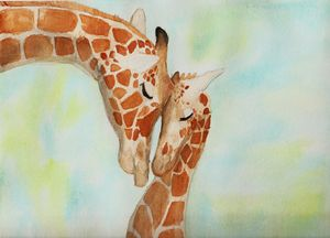Mother and Child Giraffes