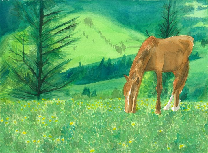 Grazing Horse - Astral Kepeire